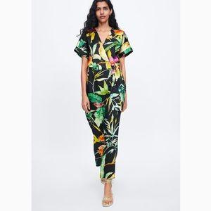 Zara Floral Print Jumpsuit, xs